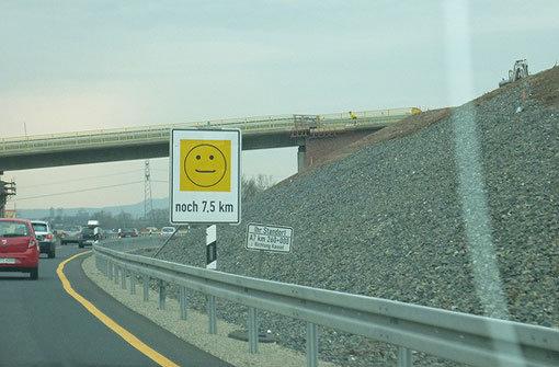 Unterwegs auf der Autobahn 7