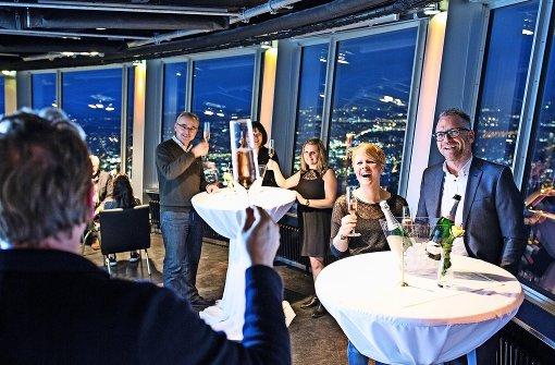 Wer den Fernsehturm für einen Tag mieten will, zahlt dafür 3000 Euro. Im Preis inbegriffen sind so viele Aufzugfahrten für die Gäste wie gewünscht. Foto: SWR Media Services GmbH