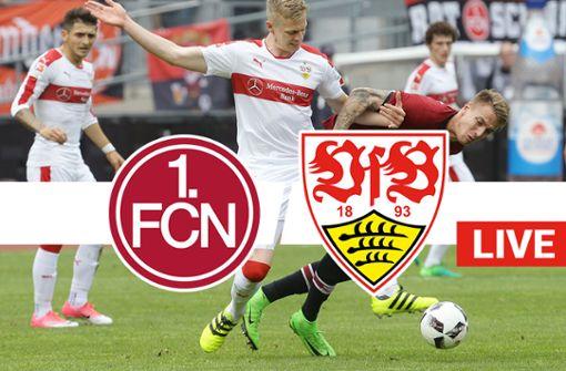 Der VfB Stuttgart im Gastspiel gegen den 1. FC Nürnberg