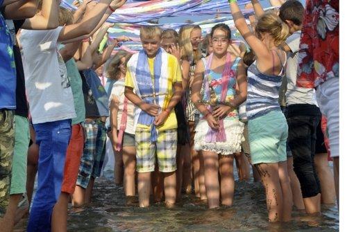 Taufe in der Adria