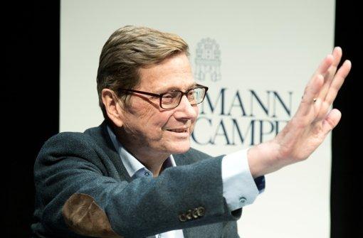 Der ehemalige Außenminister Guido Westerwelle ist tot. (Archivfoto) Foto: dpa