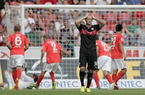 Enttäuscht: Konstantin Rausch und der VfB erleben in Mainz einen misslungenen Saisonstart. Klicken Sie sich durch die Noten für die Roten. Foto: dpa