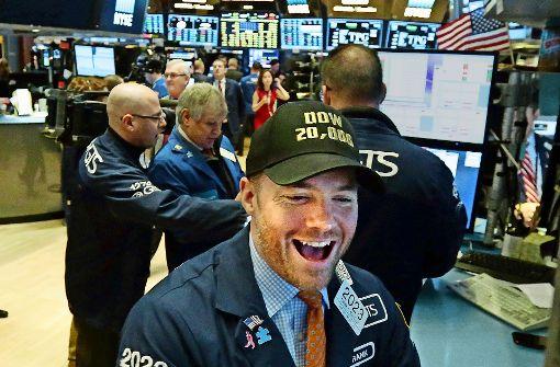 Dow Jones erstmals über 20000 Punkten
