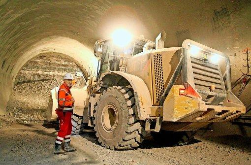Die Bahn treibt die Tunnel unter dem Neckar voran. Foto: Lichtgut/Jan Reich