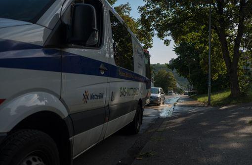 Mitarbeiter von Netze BW sind vor Ort, ... Foto: 7aktuell.de/Frank Herlinger
