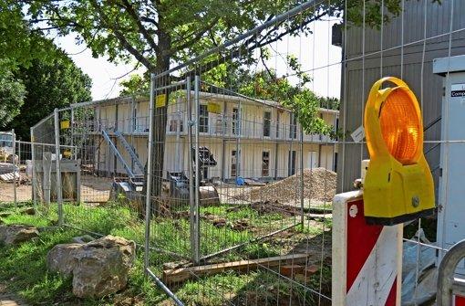 Noch sieht es neben dem Hallenbad nach Baustelle aus. Am Dienstag ist die offizielle Eröffnung mit dem Oberbürgermeister. Foto: Barnerßoi