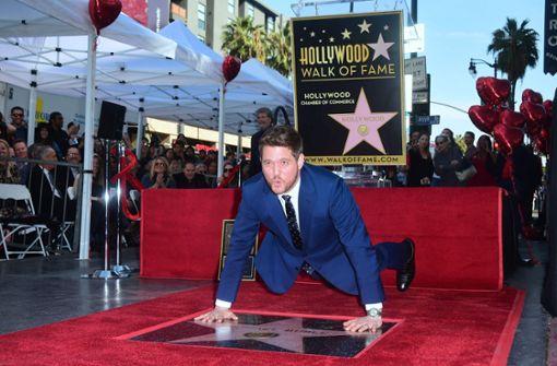 """Sänger Michael Bublé auf """"Walk of Fame"""" geehrt"""