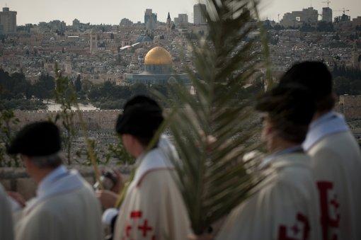 Palmsonntagsprozession in Jerusalem Foto: dapd