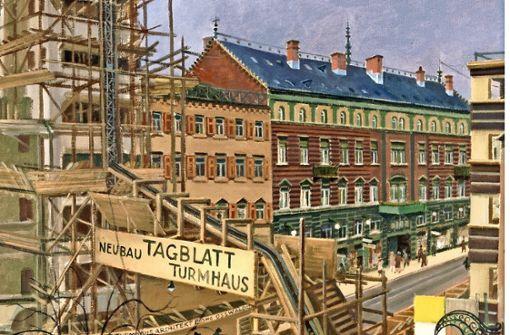 Reinhold Nägele, Neubau des Tagblattturms in Stuttgart Foto: SWMH, VG Bild-Kunst, 2018