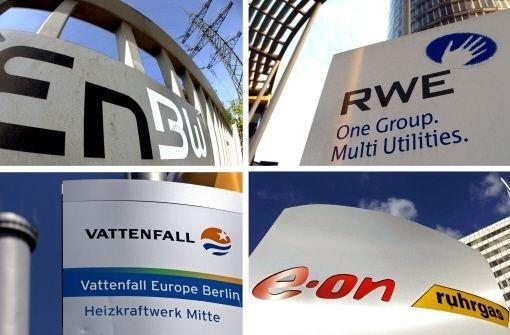 Die großen Vier der deutschen Stromindustrie: EnBW, RWE, Vattenfall und E-ON Foto: dpa