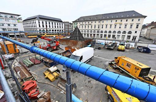 Großprojekte wie die Kombilösung in Karlsruhe gehen oft nicht so schnell, wie Haushälter planen. Foto: dpa