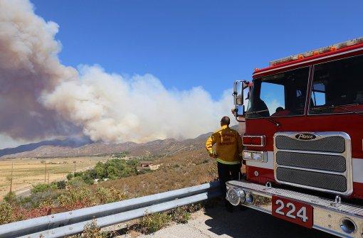 Feuerwehr bekämpft schwere Waldbrände