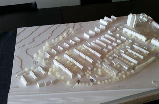 So soll das Areal am Ehrlichweg  nach der Vorstellung des Büros Schwarz Jacoby Architekten herum einmal aussehen. Foto: Götz Schultheiss