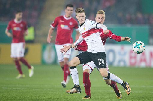 Der VfB Stuttgart sicherte sich mit einem Sieg von 3:1 gegen den 1. FC Kaiserslautern den Einzug ins Achtelfinale. Foto: Bongarts