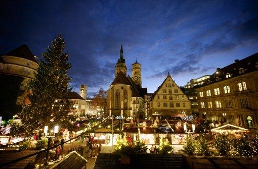 Der Stuttgarter Weihnachtsmarkt hat begonnen. Foto: Lichtgut/Leif Piechowski