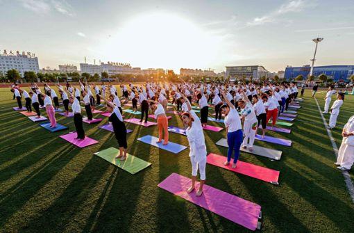 Tipp 1: Der Tag startet mit Bewegung. Das Workout muss nicht lange sein – zehn bis fünfzehn Minuten reichen völlig aus, um den Kreislauf in Schwung zu bekommen. Wichtig: Nicht nach, sondern vor dem Frühstück sporteln.    Foto: AFP