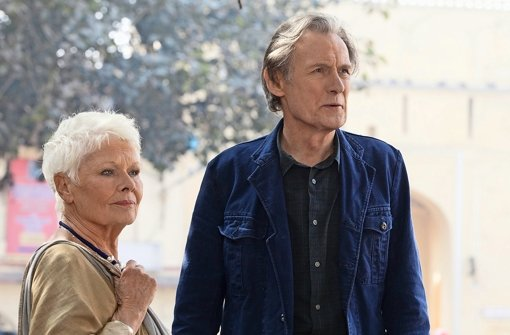 """Britisch süffisant: Judi Dench und Bill Nighy in """"Best Exotic Marigold Hotel 2"""" Foto: Verleih"""