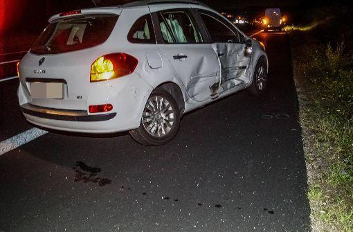 ...war mit seinem Renault auf der A8... Foto: SDMG