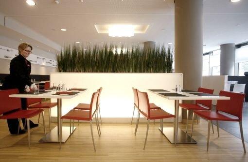 Morgens Frühstücksraum des Hotels, dann Restaurant für alle: Das rbg am Marienplatz Foto: Wagner