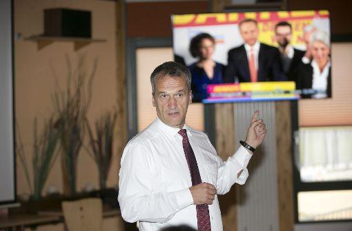 Michael Hennrich (CDU) holt wieder das Direktmandat im Wahlkreis Nürtingen. So richtig freuen will er sich ob des Ergebnisses seiner Partei allerdings nicht. Foto: Horst Rudel