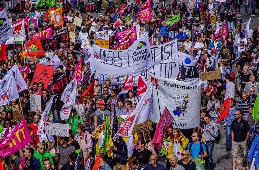 Wer organisiert die Proteste gegen den freien Handel? Foto: SDMG