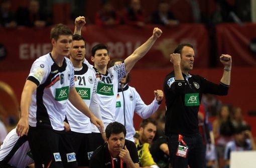 Die deutschen Handballer ziehen bei der EM in Polen ins Finale ein. Foto: dpa