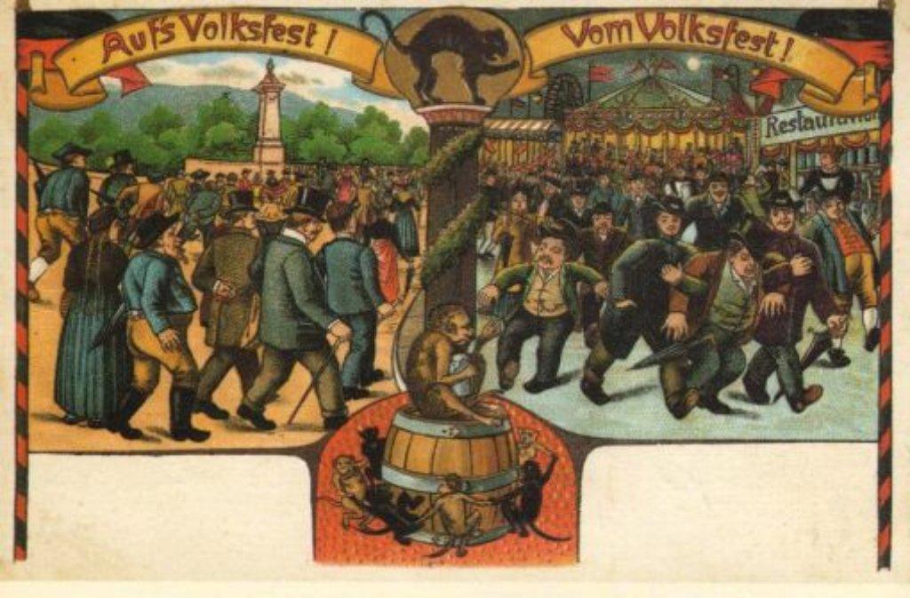 Gruß vom Cannstatter Volksfest: Leserin Erika Lang hat diese über ...