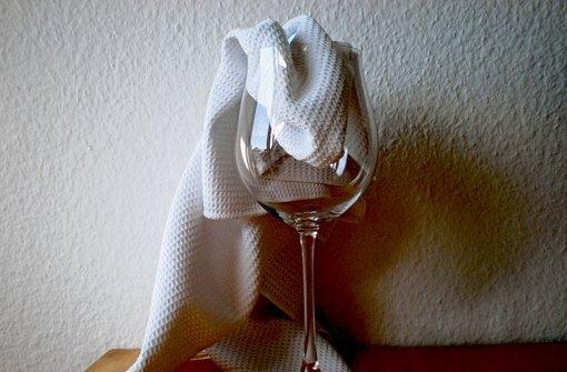 Strahlende Weingläser