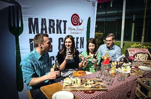 Bei der Frühjahrsmesse Slow Food in Stuttgart stehen regionale, nachhaltig und handwerklich erzeugte Lebensmittel im Mittelpunkt. Bis Sonntag hat die Messe noch täglich von 10 bis 18 Uhr geöffnet. Foto: Lichtgut/Achim Zweygarth