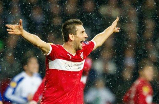 Die Türen in die K.o.-Runde stehen dem VfB Stuttgart nach dem 2:0-Sieg offen. Wie haben sich die einzelnen Spieler geschlagen? Klicken Sie sich durch unsere Noten für die Roten. Foto: Pressefoto Baumann