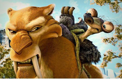 """Die wohl bekannteste Säbelzahnkatzen-Art heißt Smilodon fatalis. Sie ist das Vorbild für die Säbelzahnkatze Diego in den """"Ice Age""""-Filmen Foto: dpa"""