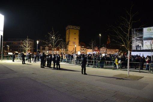 Die Polizei ist mehr als 250 Beamten im Einsatz gewesen. Foto: www.7aktuell.de |