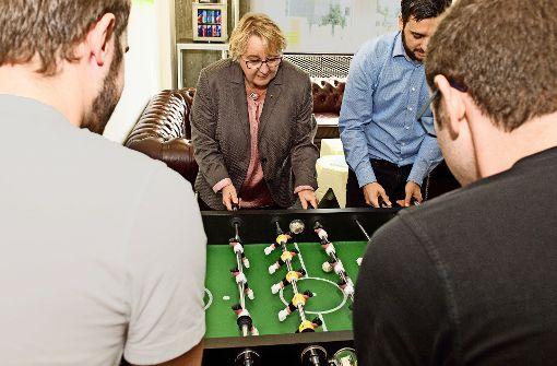 Ministerin besucht Stuttgarter Start-up
