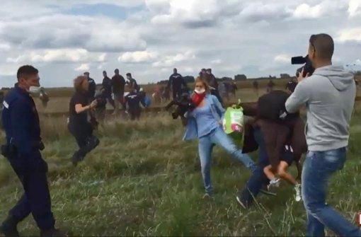 Ermittlungen gegen tretende Kamerafrau