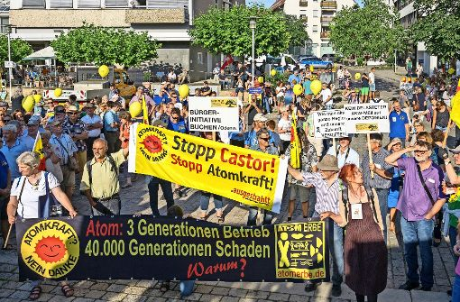 Protest gegen Atomabfälle
