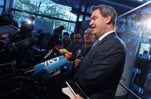 CSU-Vorstand einstimmig für Söder als Ministerpräsident