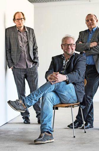 Galerienhaus-Macher: Marko Schacher, Andreas Kerstan, Horst Merkle (von links) Foto: Galerienhaus Stuttgart  Foto: