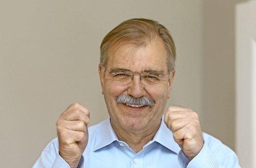 Drückt dem Dialekt den Daumen: Landtagsdirektor Hubert Wicker, im Nebenjob Chef des Fördervereins Schwäbischer Dialekt. Foto: Pressefoto Baumann