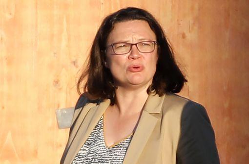 SPD-Chefin Nahles will Maaßen-Deal neu verhandeln