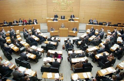 Abgeordnete im Stuttgarter Landtag Foto: AP
