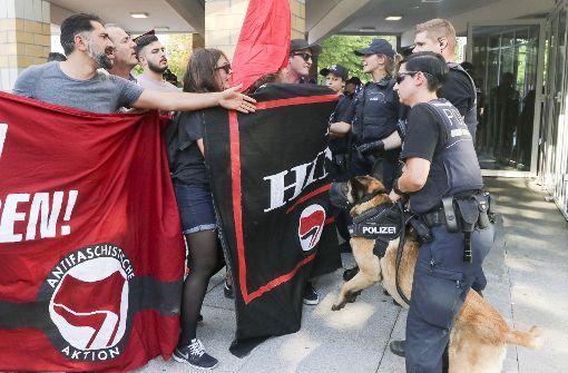 Rangeleien bei Anti-AfD-Demonstration