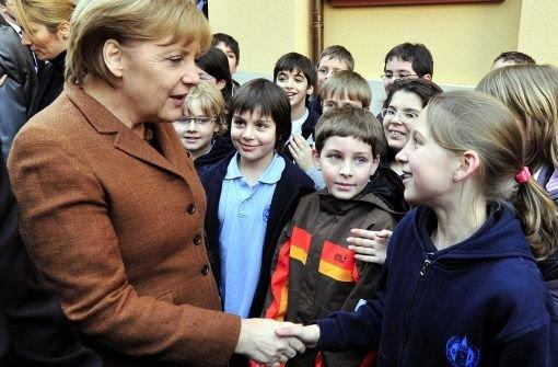 Schulstunde mit Frau Merkel