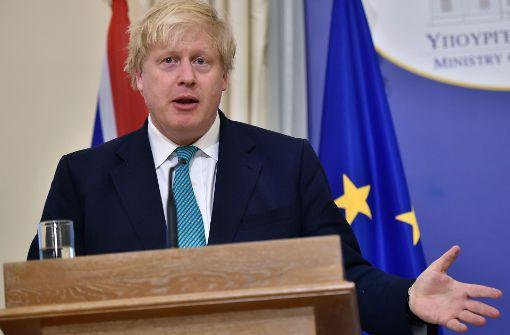 Boris Johnson sagt Moskau-Besuch wegen Syrien ab