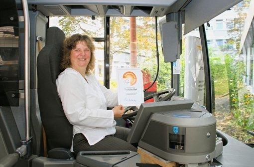 Hendrikje Wolf aus Weissach ist die Busfahrerin des Jahres. Foto: VVS