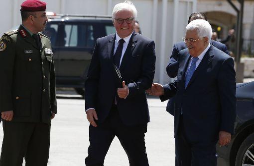 Steinmeier trifft Palästinenserpräsident Abbas