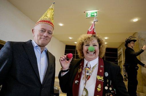 OB Fritz Kuhn beim Empfang im Rathaus Foto: Lichtgut/Leif Piechowski