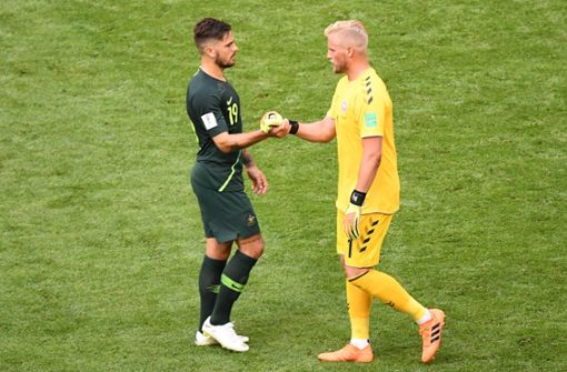 Dänemark und Australien trennen sich 1:1