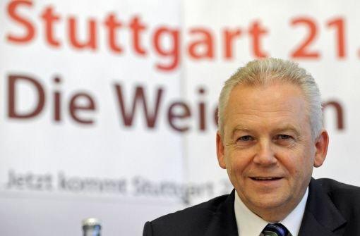 Nach der Volksabstimmung erwartet Bahn-Chef Rüdiger Grube, dass sich die Landesregierung zum Projekt Stuttgart 21 bekennt und es beim Bürger durchsetzt. Foto: dpa