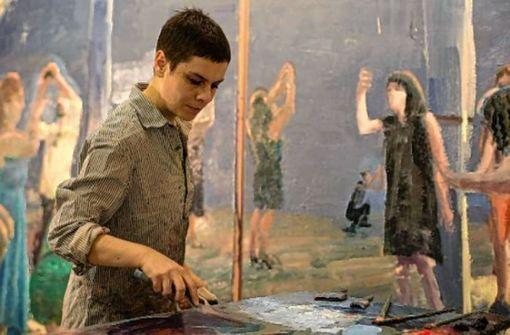 Tirtzah Bassel erarbeitet  ihre Bilder ...  Foto: slag-gallery