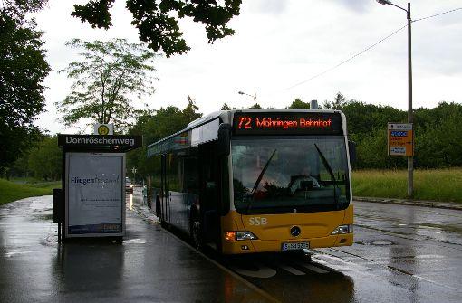 """Bisher fährt die Buslinie 72 nicht durch die Märchensiedlung. Der nächste Stopp ist die Haltestelle """"Dornröschenweg"""" an der Hechinger Straße. Foto: Archiv Alexandra Kratz"""
